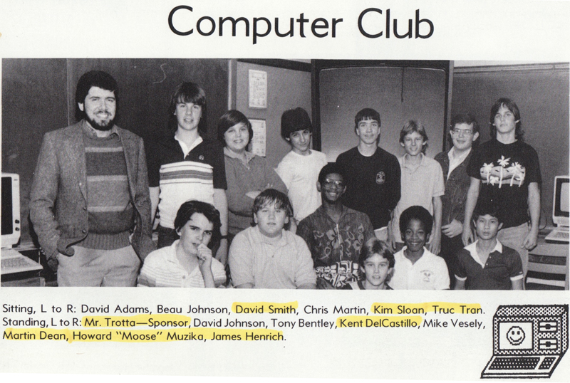 Computer Club image from junior high school