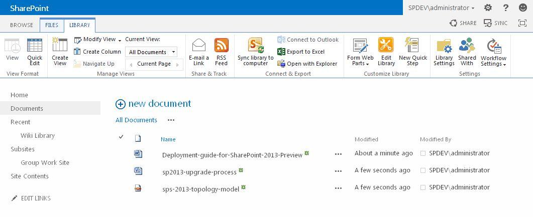 sharepoint 2013 document library template - sharepoint 2013 screenshots kent del castillo
